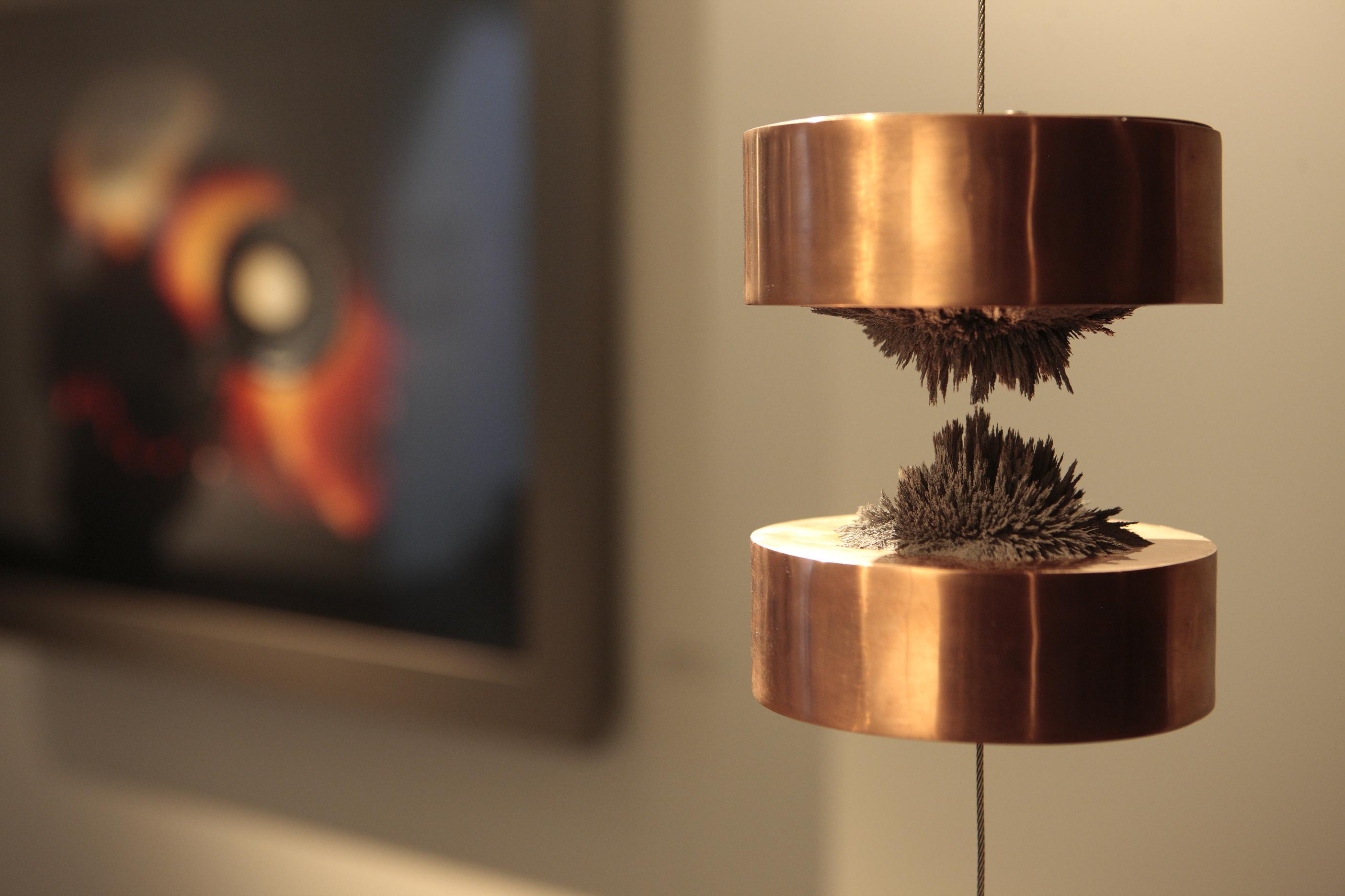 Le temps suspendu #3, Hicham Berrada Copper, magnet and iron 13x14cm, 2009