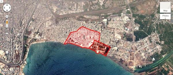 Al-Raml-map-1-palestinian-camp-2-talaee-camp