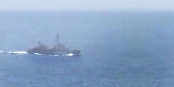 Warships in the Sea of Al-Raml Al-Janoubi …سفن حربية في بحر الرمل الجنوبي