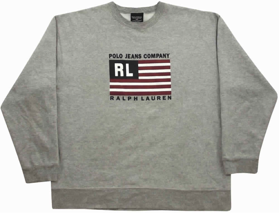 Flag Sweatshirt by Polo Jeans Company, courtesy grubbymits.co.uk