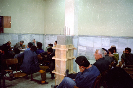Installation view of Aydan Murtezaoğlu, Bud/ (we weaved an iron web across the motherland) / Filiz/(demir ağlarla ördük ana yurdu dört baştan), 1995