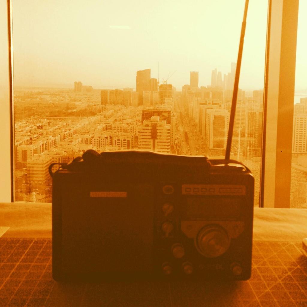 Radio Set Over Abu Dhabi. Photo by Fari Bradley