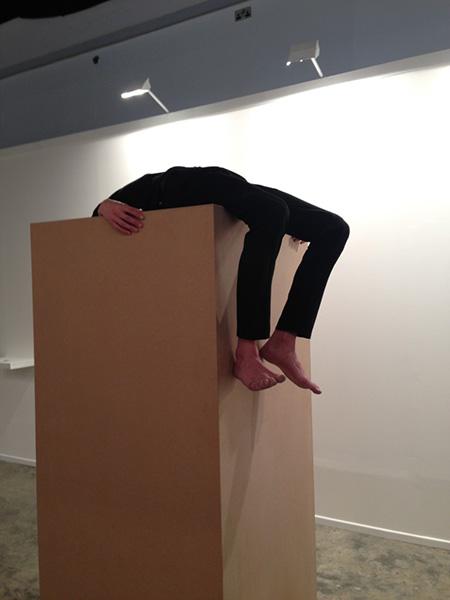 Maria Jose Arjona, Permanence: re-enactment, 2015 (original work by Maria Jose Arjona, 2008). Re-Performer: David Ertel