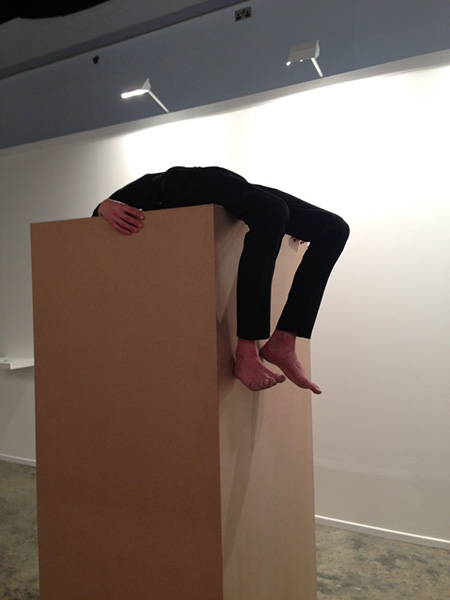 Maria Jose Arjona, Permanence: re-enactment, 2015 (original work by Maria Jose Arjona, 2008). Re-Performer: David Ertel