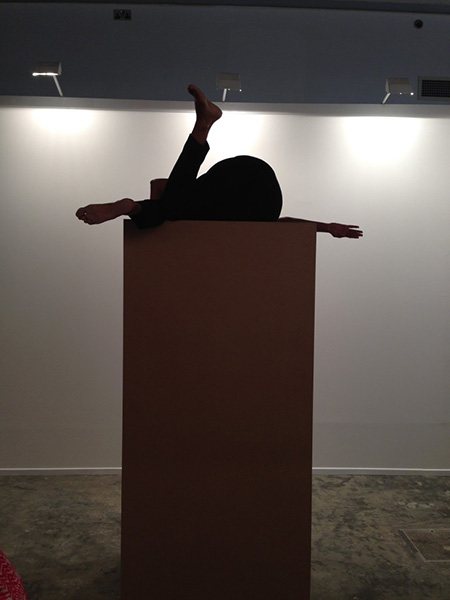 Maria Jose Arjona, Permanence: re-enactment, 2015 (original work by Maria Jose Arjona 2008). Re-performer: Vitalina Sousa.