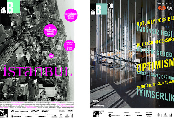 Image 5: Posters of 9th Istanbul Biennial (2005) and 10th Istanbul Biennial (2007) respectively