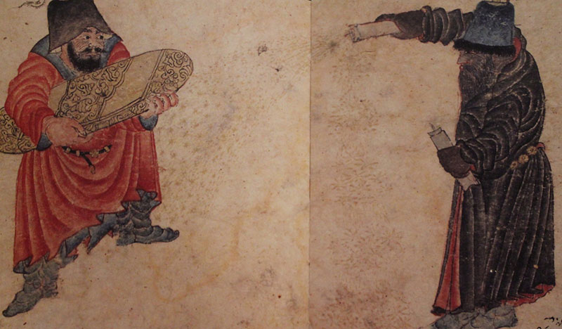 Miniature no. 65a from album no. 2153 in the Topkapı Palace Museum Treasury, 24 x 15.7 cm. Published in Mine Haydaroğlu (ed.) I, Mehmed Siyah Kalem, Master of Humans and Demons. Istanbul: YKY, 2004.