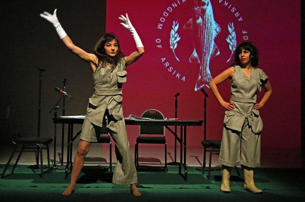 Mona Gamil and Salma Abdel Salam of Adham Hafez Company. Photo: ANDREA MOHIN / THE NEW YORK TIMES