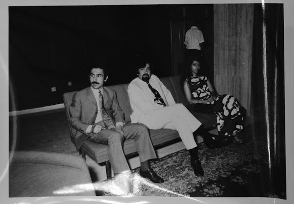 Iraqi artist, Dia al Azzawi with Ghazi and Najat Sultan, 1969.