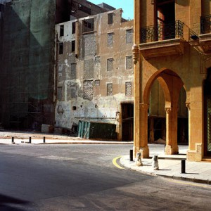 """Greta Torossian, About-turn in """"Beirut 99: Real Visions"""", 1999. c-print, 39 x 39 in"""