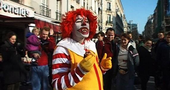 Minerva Cuevas, Donald McRonald, Action/Video Still, Paris 2003