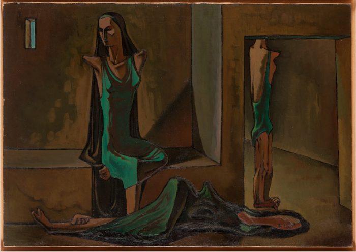 Untitled, c. 1943, by Ramses Younan. Musée de l'Institut du Monde Arabe, Paris. Younan family/Nabil Boutros/www.ramsesyounan.com