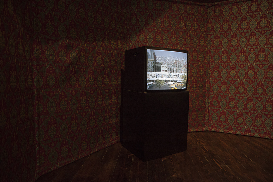 "Split Screen. Özgür Demirci. Video Installation - 18'55"" - 2014.  View from Adam Mickiewicz Museum"