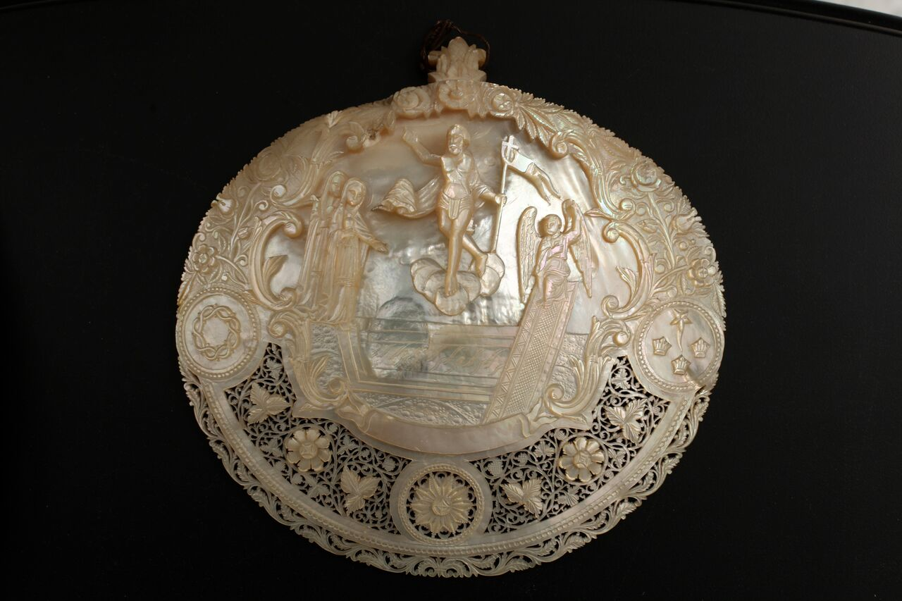 19th Century Bethlehem Engraved Shell Courtesy Collection of George Al Ama