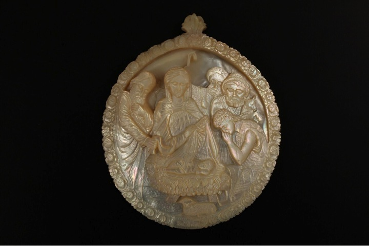 20th Century Bethlehem Engraved Shell Courtesy Collection of George Al Ama