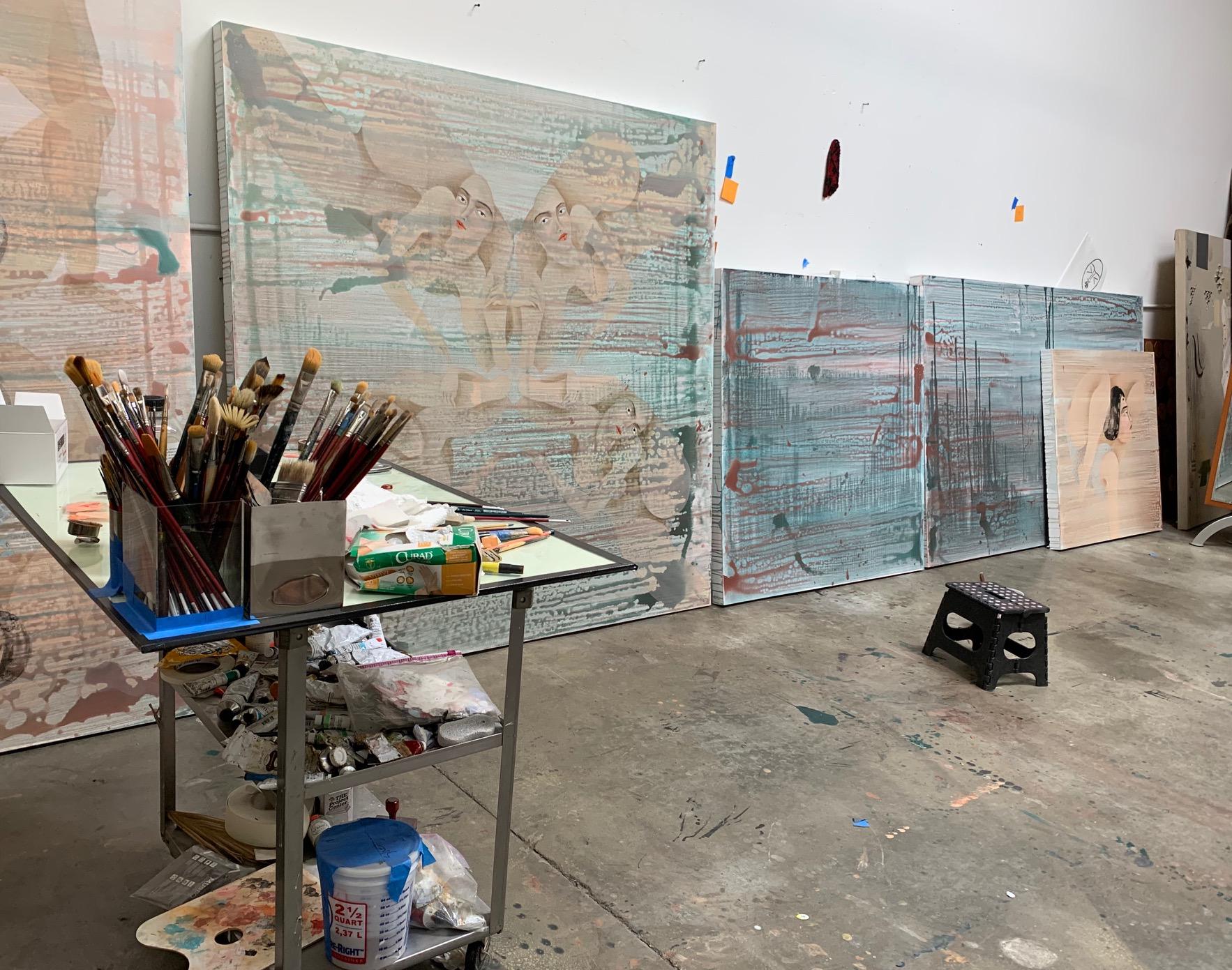 Hayv Kahraman's studio, 2020.