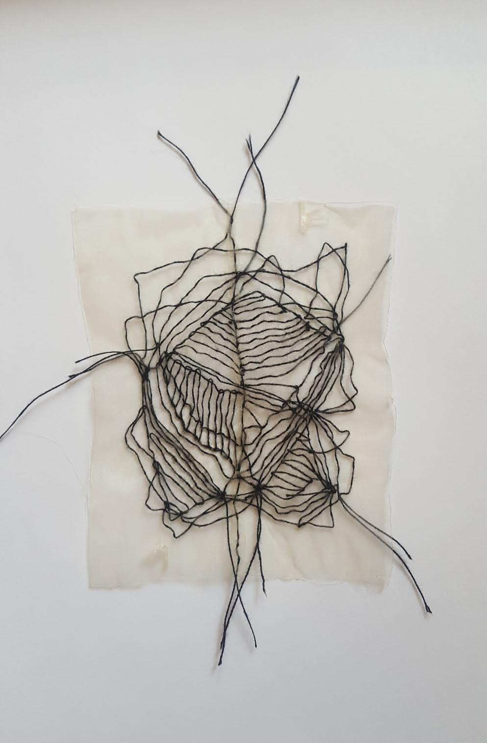 Huda Lutfi, Meandering of a Black Thread, 2020, 11 x 13 cm.