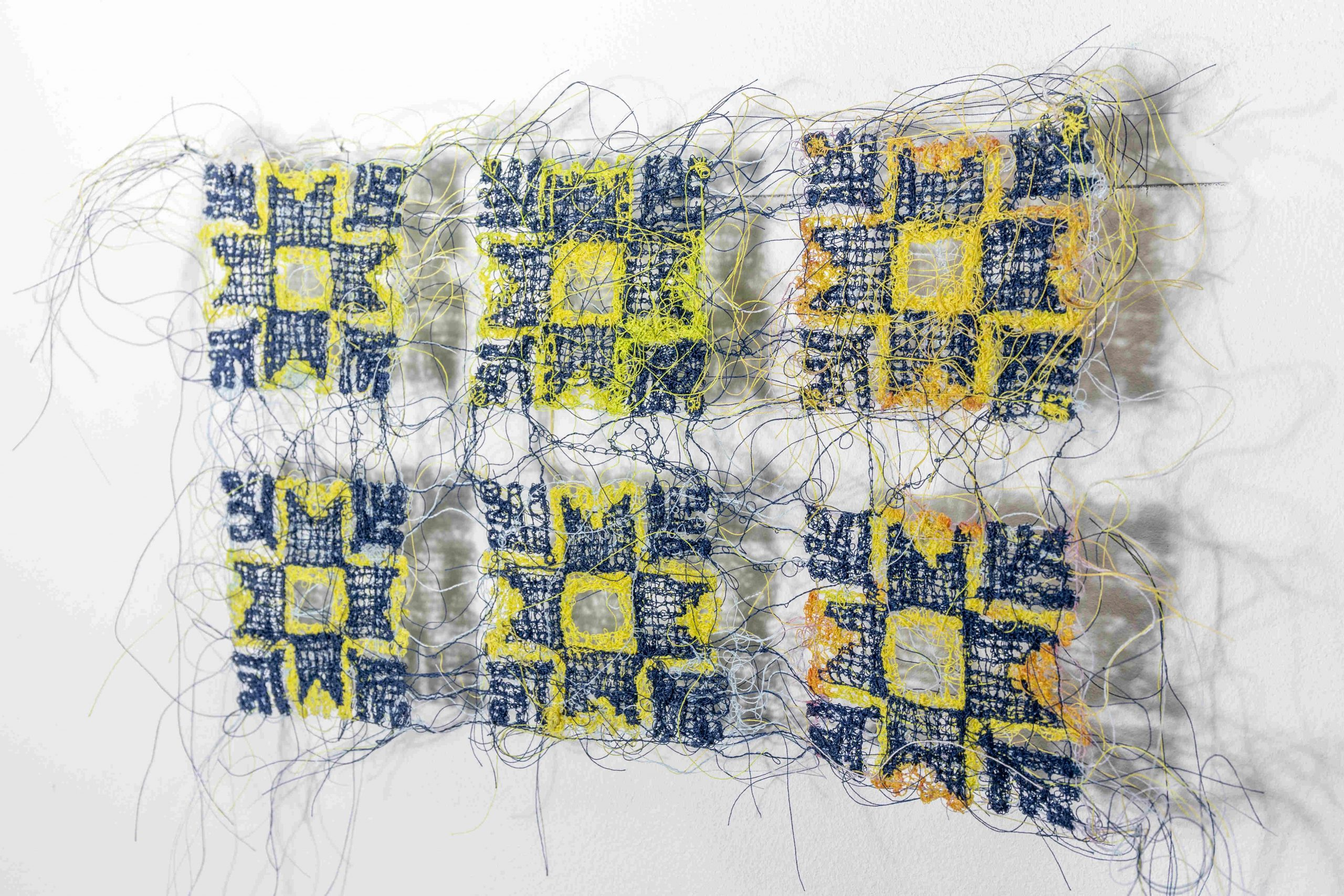 TB1, 2020, Textile, thread, 19 x 30 cm