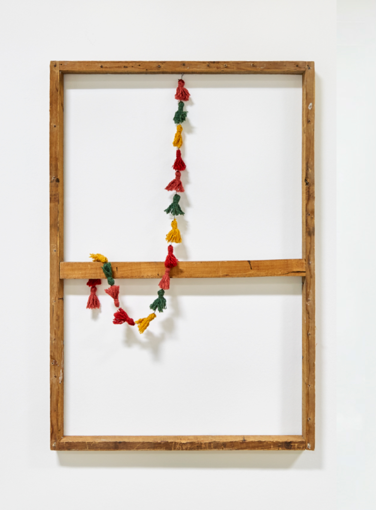 Identity Pick n' Mix I, 2021, Cotton dyed-tassels on wooden frame, 60 x 90 cm