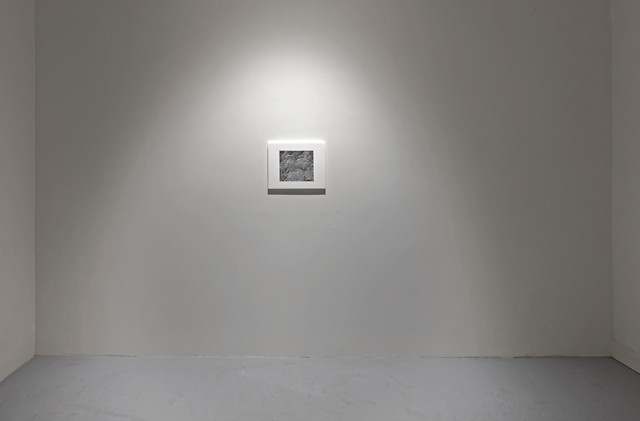 Installation View, Surface I, 2020, Graphite and gesso on a wood panel, 11 x 14 in.