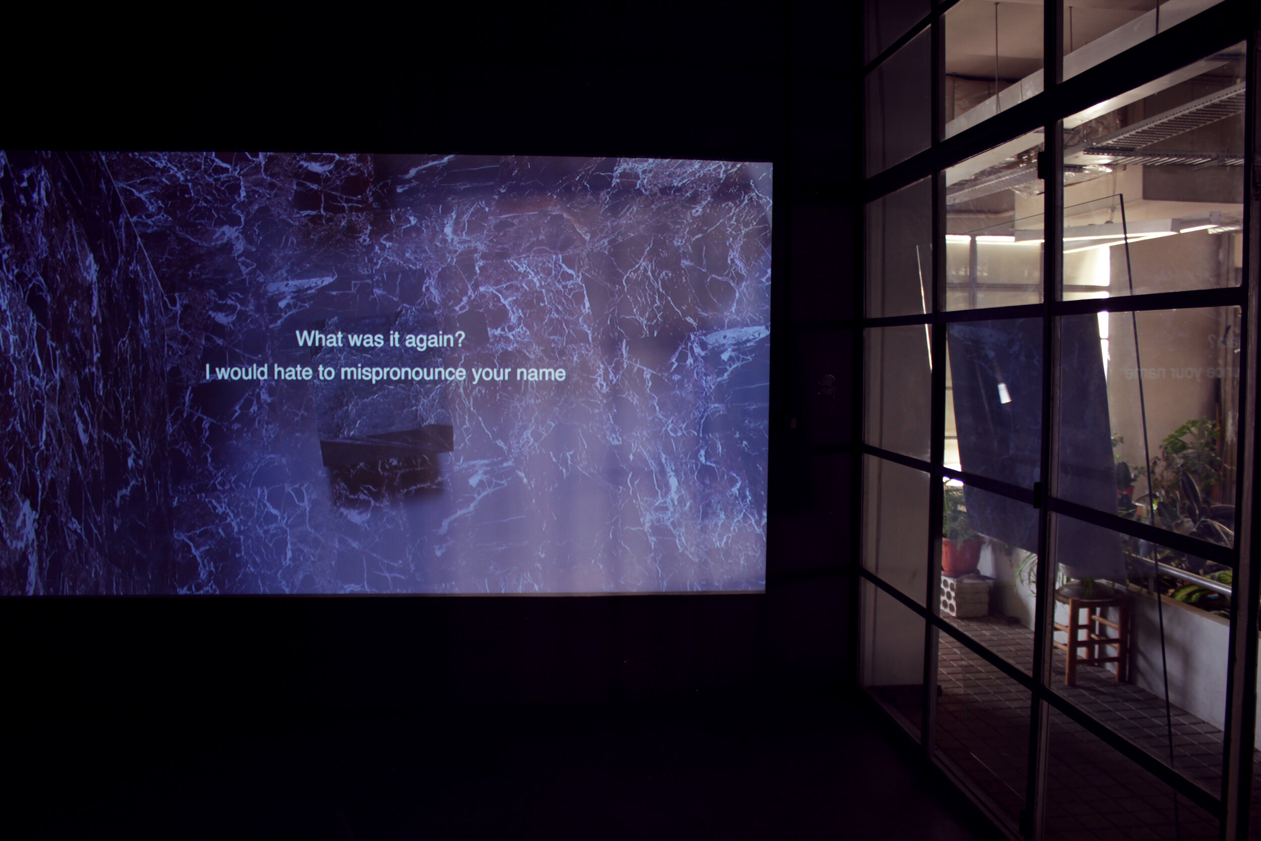 Installation View, The Dig is Her, She is the Dig, 2019, Single-channel HD Video, r.t. 13:54