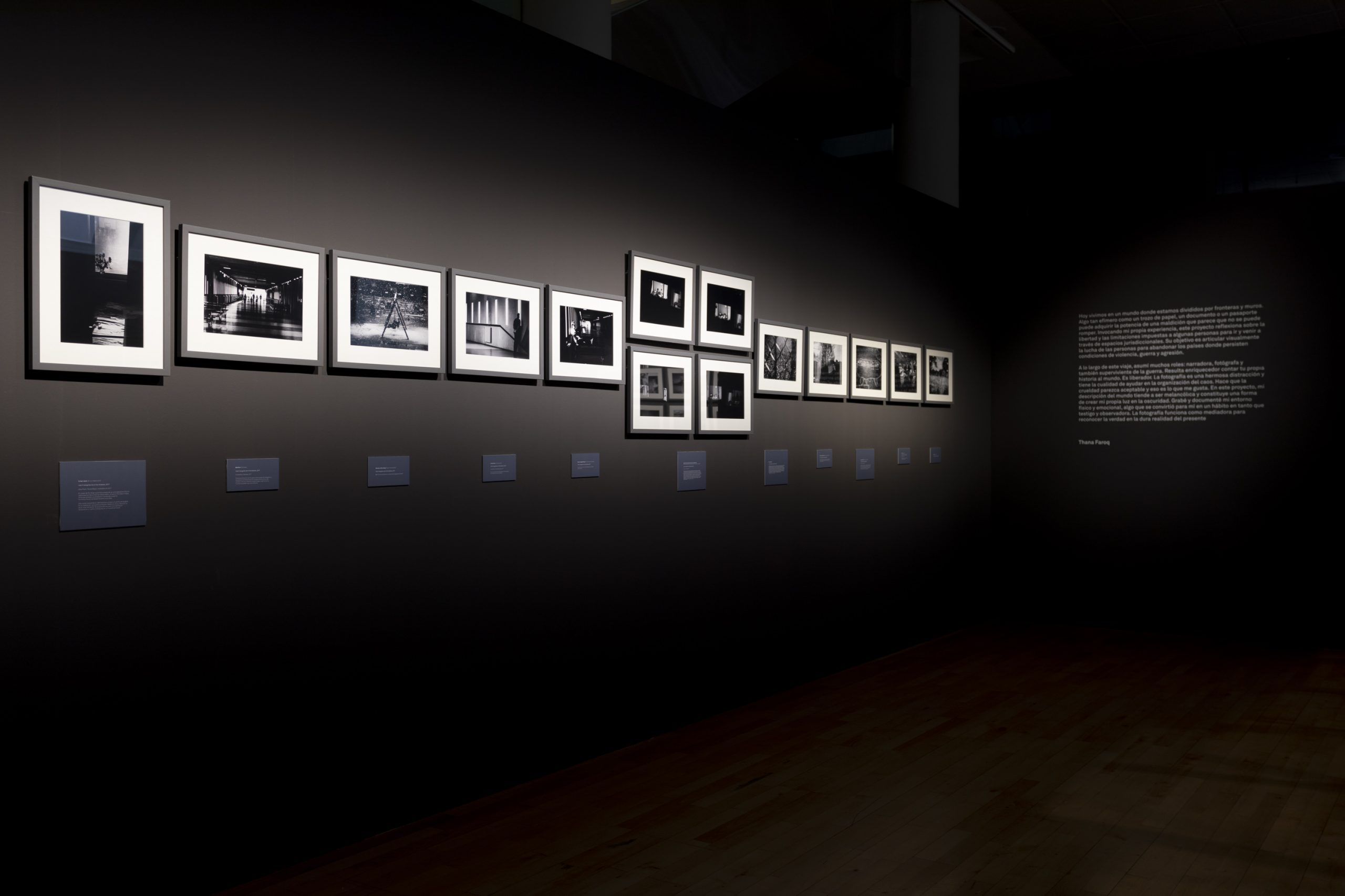 Installation shots from the project ' I don't Recognize Me in the Shadows' exhibited as part of Photo Spain Festival 2020