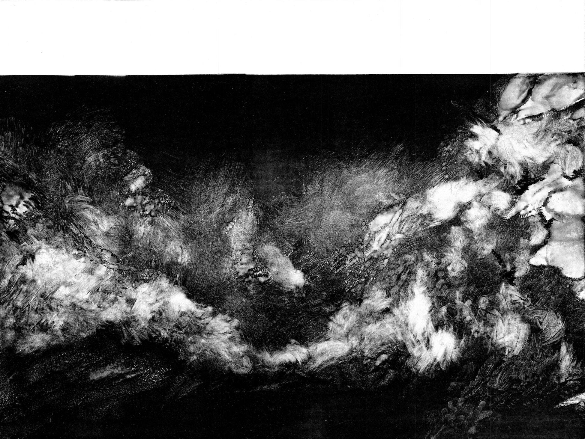 Threshold 14, 2018, Monotype, 51.5 x 80 cm