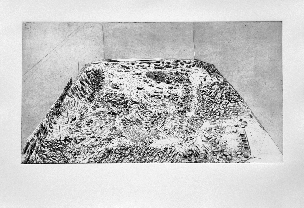 Vicarious Dream 3, 2011, Etching