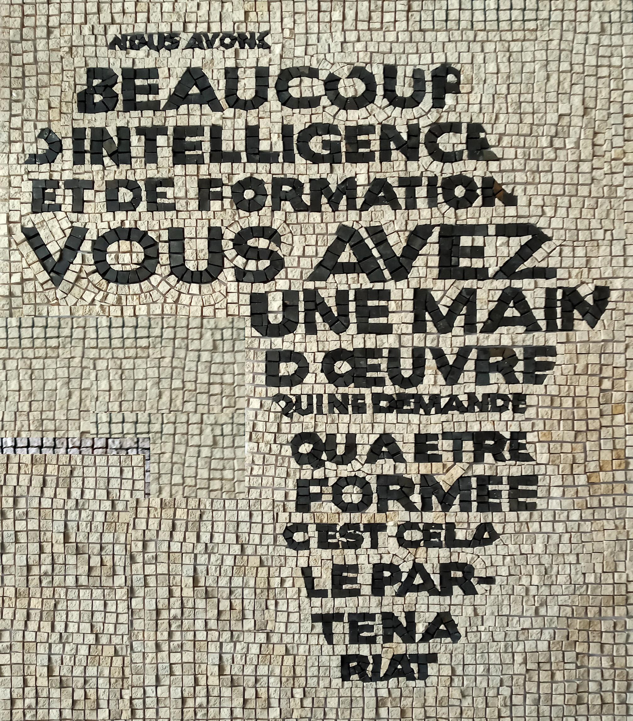 Colonial discourse, 2020, marble mosaïcs, 80 x 60 cm