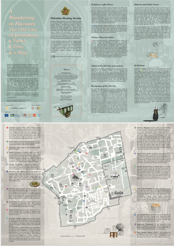 A Wondering in Flavors: The Old City of Jerusalem, The Map, Al Ma'mal Foundation for Contemporary Arts, Jerusalem, 2018