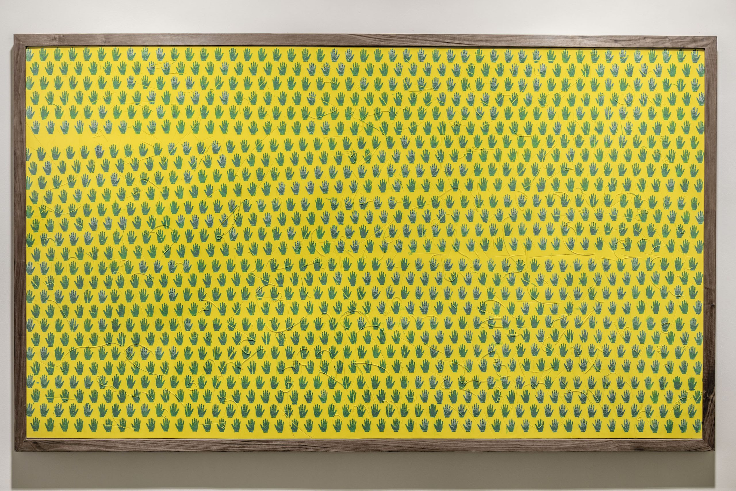 Moroccan pattern #3, 2018, Acrylic on rubber, 115.5 x 200 cm