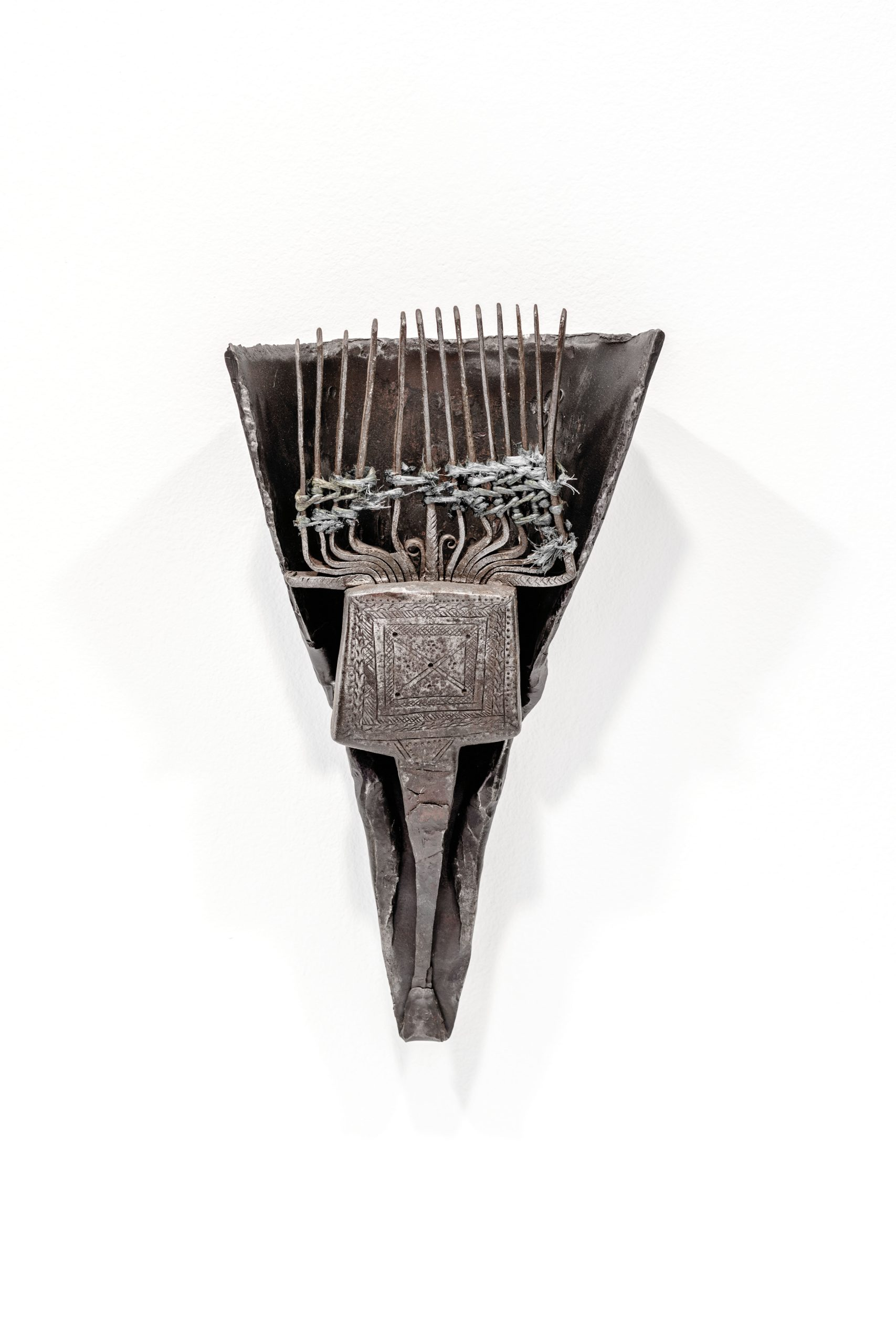 Ajdig #1, 2018, Assemblage, Forged and engraved metal